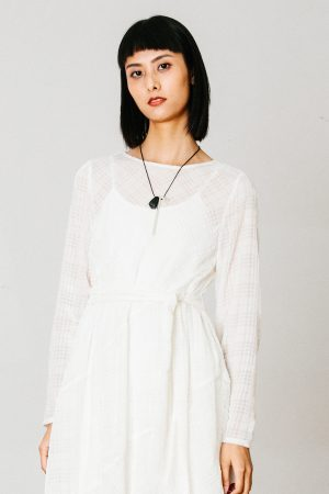 SKYE San Francisco SF California shop ethical sustainable modern chic minimalist luxury clothing women fashion Dezi Dress white 4