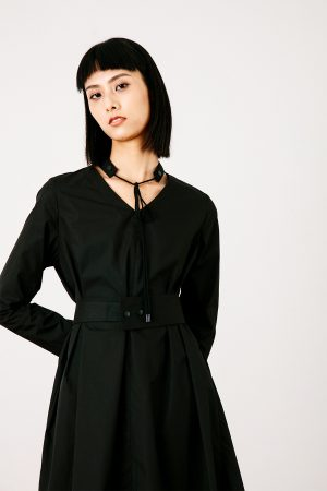 SKYE San Francisco SF California shop ethical sustainable modern chic minimalist luxury clothing women fashion Francoise Dress Black 2
