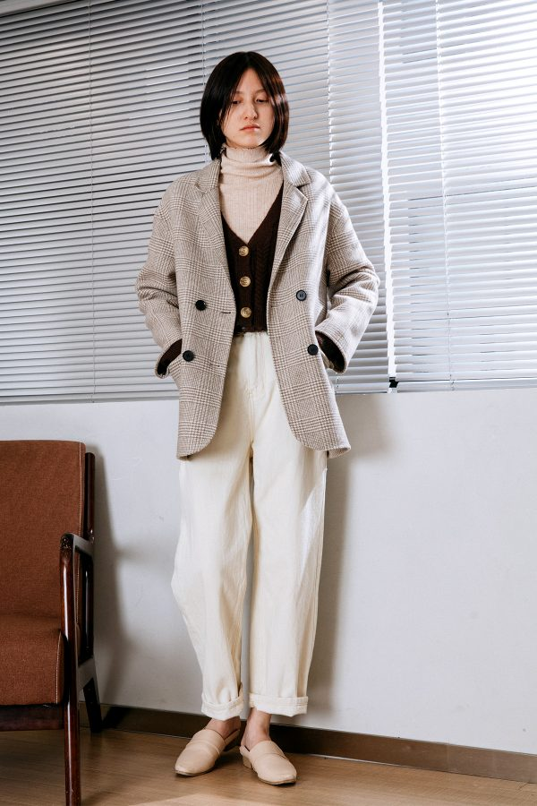 SKYE San Francisco SF California shop ethical sustainable modern chic minimalist luxury clothing women fashion Nancie Handmade Wool Coat 1
