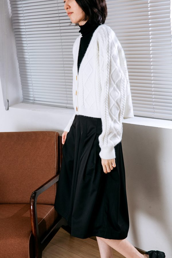 SKYE San Francisco SF California shop ethical sustainable modern chic minimalist luxury clothing women fashion Quintin Pleated Culottes black 5