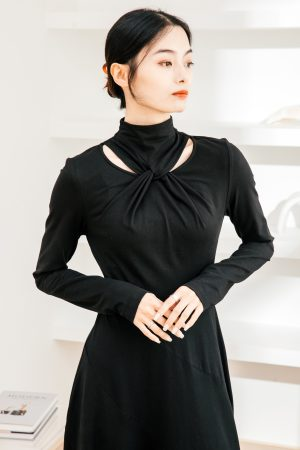 SKYE San Francisco SF California shop ethical sustainable modern chic minimalist luxury clothing women fashion Francesca Dress2