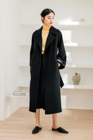 SKYE San Francisco SF California shop ethical sustainable modern chic minimalist luxury clothing women fashion cecilia handmade wool coat