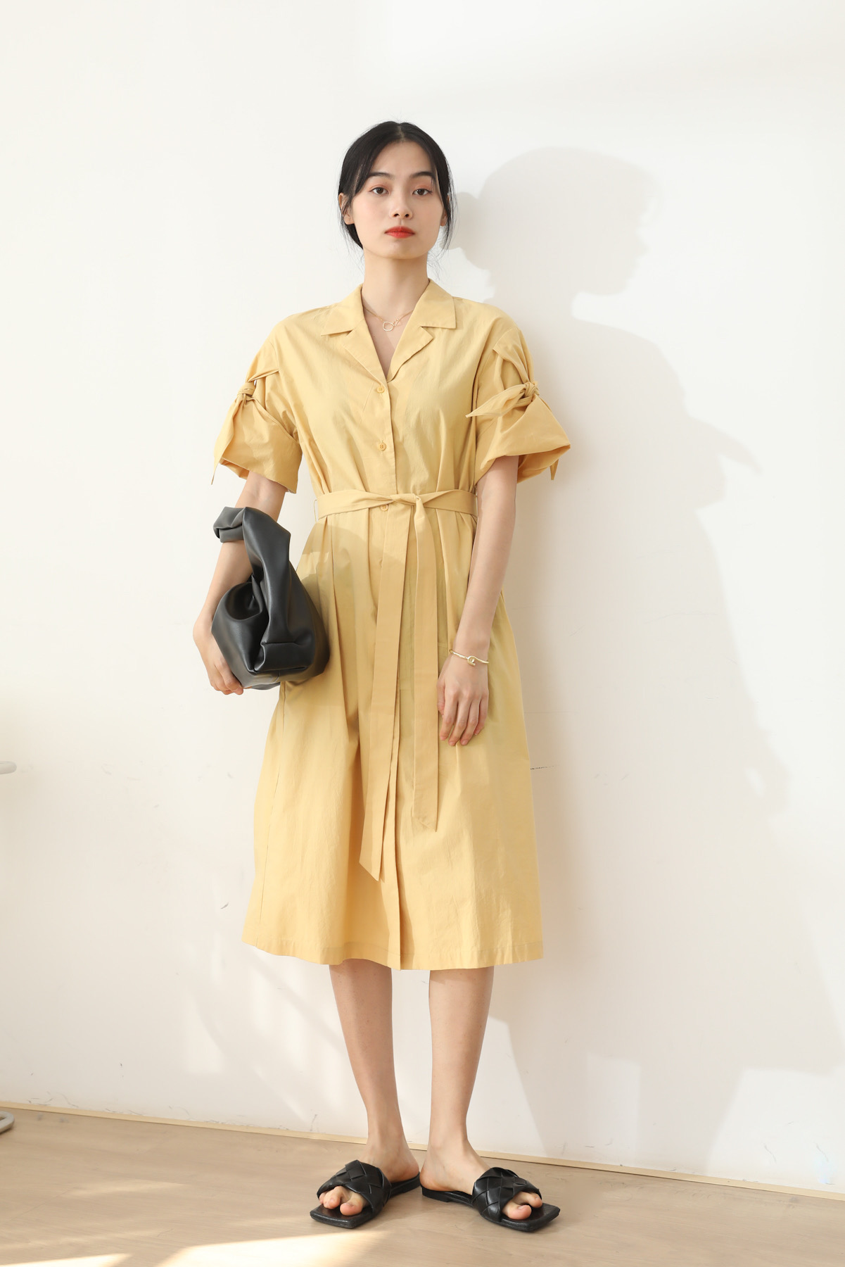 SKYE San Francisco Shop SF Chic Modern Elegant Classy Women Clothing French Parisian Minimalist Fashion Charlotte Belted Shirt Dress